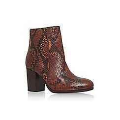 Carvela - Tan 'sherbert' high block heel print ankle boot