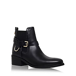 Carvela - Black 'Saddle' mid heel ankle boot
