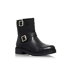 Carvela - Black 'Shed' low heel biker boot