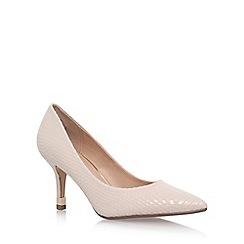 KG Kurt Geiger - Natural 'Evie' high heel court shoes