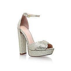 Carvela - Gold 'larry' gigh heel platform ankle strap sandal