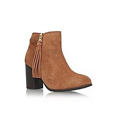 Carvela - Brown 'Tegan' high heel ankle boot with tassels