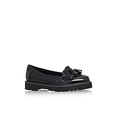 Carvela - Black 'Marc' flat slip on platform loafer