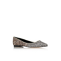 Carvela - Metal comb 'Maria' flat glitter detail slip on court shoe