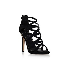 Carvela - Black 'Lawson' high heel strap shoe boot