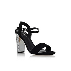 Carvela - Black 'Leela' high heel embellished detail sandal