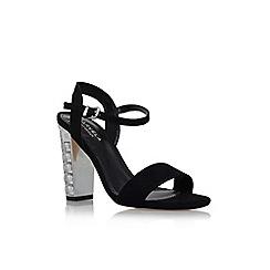 Carvela - Black 'Leela' high heel embellished detail sandal