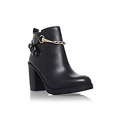 Carvela - Black 'tucker' high block heel chain detail ankle boot