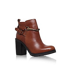 Carvela - Tan 'Tucker' high block heel ankle boot