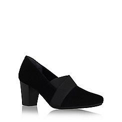 Carvela Comfort - Black 'Ada' mid heel slip on court shoe