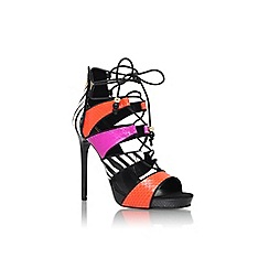 Carvela - Black 'Geoffrey' high heel lace up sandal