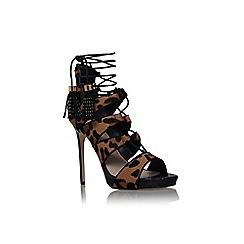 Carvela - Beige comb 'Geoffrey' high heel multi strap sandal