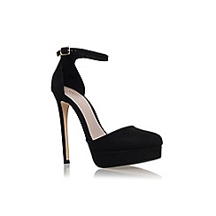 Carvela - Black 'Karri' high heel platform ankle strap court shoe