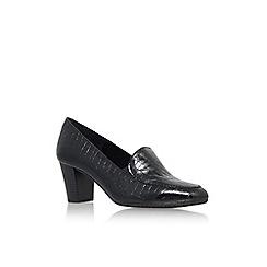 Carvela Comfort - Blk/Other 'Alice' mid block heel court shoe