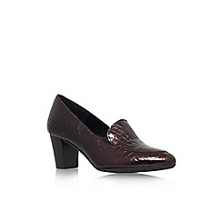 Carvela Comfort - Wine 'Alice' mid block heel court shoe