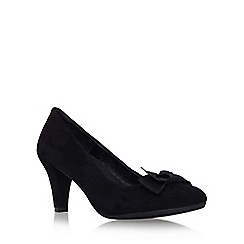 Carvela Comfort - Black 'Anya' mid heel slip on court shoe