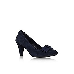 Carvela Comfort - Navy 'Anya' mid heel slip on court shoe