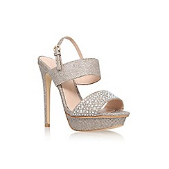 Lipsy - Gold 'grace' high heel platform embellished sandal