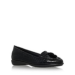 Carvela Comfort - Black 'Como' flat slip on loafer