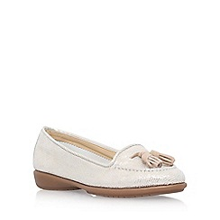 Carvela Comfort - Gold 'Como' low heel loafers