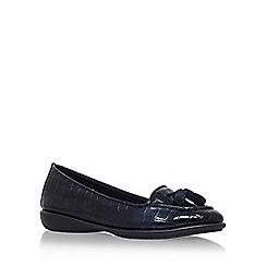 Carvela Comfort - Navy 'Como' flat tassel loafers