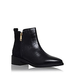 KG Kurt Geiger - Black 'Sabre' low heel ankle boot with zip