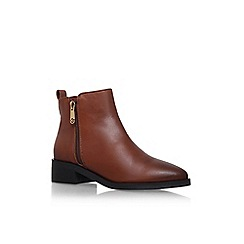KG Kurt Geiger - Brown 'Sabre' low heel ankle boot with zip