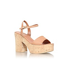 Carvela - Tan 'Karol' high heel platform sandal