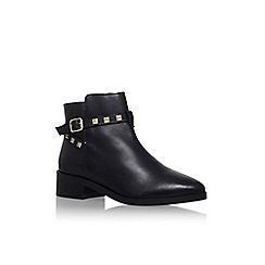 KG Kurt Geiger - Black 'Sovereign' low heel buckle detail ankle boot