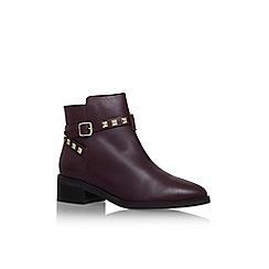 KG Kurt Geiger - Wine 'Sovereign' low heel buckle detail ankle boot