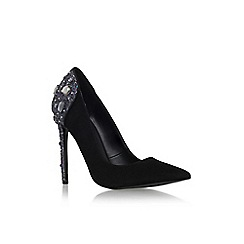 KG Kurt Geiger - Black/comb 'Hijack' high heel embellished court shoe