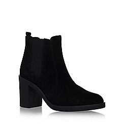 KG Kurt Geiger - Black 'Sicily' high block heel ankle boot