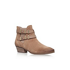 Vince Camuto - Taupe 'Capella' low heel ankle boots