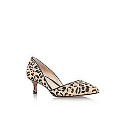 Vince Camuto - Brown/Oth 'Premell2' low heel print detail court shoe