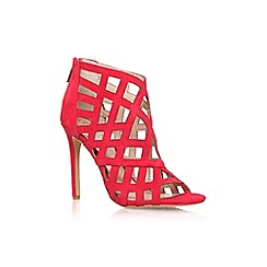 Vince Camuto - Red 'Tatianna' high heel strappy ankle shoe boot