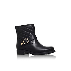 Carvela Comfort - Black 'Rafe' low heel buckle detail ankle boot