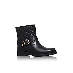 Carvela Comfort - Black 'Rafe' low heel buckle detail ankle boot