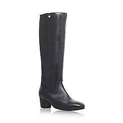 Carvela Comfort - Black 'Valerie' mid heel knee boots