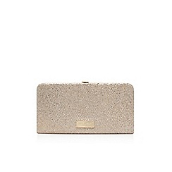 Carvela - Gold 'Glitter' clutch bag