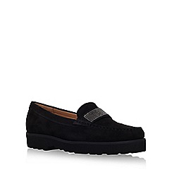 Carvela Comfort - Black 'Charlie' flat slip on loafer
