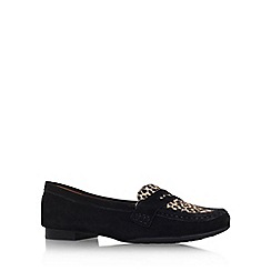 Carvela Comfort - Black/Comb 'Cali' flat slip on loafer