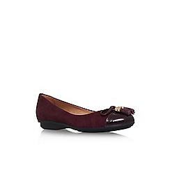 Carvela Comfort - Wine 'Cleo' flat slip on court shoe