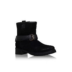 Carvela - Black 'trust' low heel buckle detail ankle boot