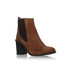 Carvela - Tan 'Tilly' mid block heel ankle boot