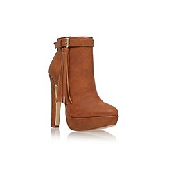 Lipsy - Brown 'Katie' high heel ankle boot with tassel