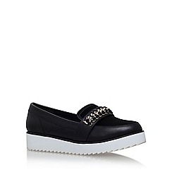 KG Kurt Geiger - Black 'Loco' flat platform slip on chain detail loafer