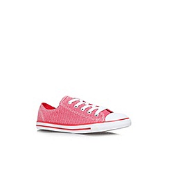 Converse - Red 'CT dainty chmb' flat lace up low top trainer