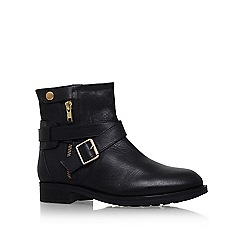 Carvela - Black 'samuel' low heel buckle detail ankle boot
