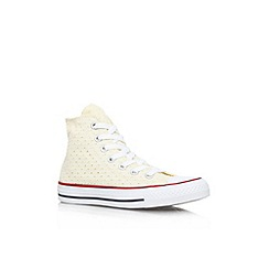 Converse - Beige 'CT perfed hi' flat lace up hi top trainer