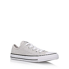 Converse - Grey' Ct Perfed Low' Flat Lace Up Sneakers